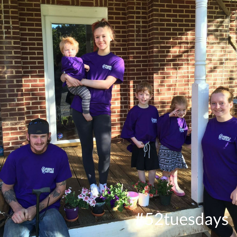 Purple Heart Homes helps veterans like Benjamin Wardip (left) and his family with home repairs.