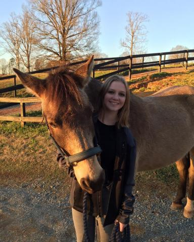 Madison Draper with her horse Gryffin. Courtesy: Katherine Draper